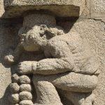 Als Relief der Zwiebelmann, Symbol für die berühmte Roscoff-Zwiebel. @ Klaus W. Schmidt