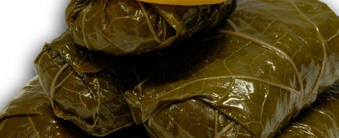 gefüllte Weinblätter, Ausschnitt