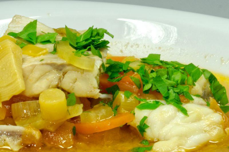 Bouillabaisse -Eine französische Fischsuppe