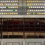Zuschauertribünen auf den Circuit des 24 Heures du Mans