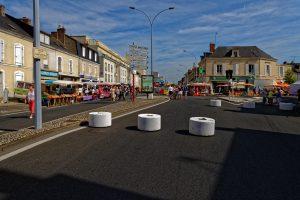 Viele Zugänge zum Markt sind mit Betonzylindern geschützt