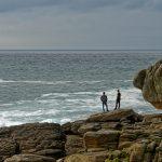Zwei Wanderer auf den Rochers