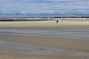 Am Plage de Pors Carn / Plage de la Torche, kein Mensch am Strand zu sehen