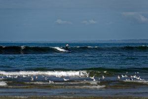 Hier wird geübt. Mehrere Surfschulen bieten Unterricht an