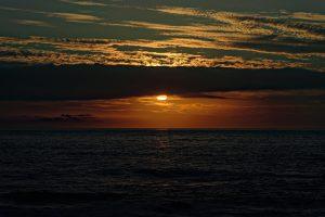 Sonnenuntergang vom Balkon aus getrachtet