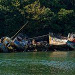 Bootsfriedhof im Ästuar Pouldavid