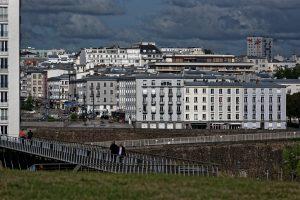 Ein Eindruck von der Nachkriegsbebauung in Brest
