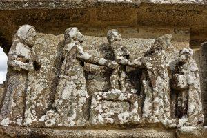 Darstellung von Jesus mit 12 Jahren zwischen zwei Gelehrten