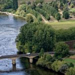 Ausblick auf die Dordogne von Domme aus