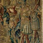 Aufwändige Wandteppiche zieren die Räume im Schloss
