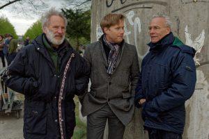 Klaus J. Behrendt mit Bausünden-Regisseur Kaspar Heidelbach (links) und WDR-Redakteur Götz Bolten anlässlich des 20-jährigen Tatortjubliäums in Köln am 6. April 2017