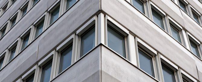 Ausschnitt des Hochhauses im Bonn-Center noch funktionsfähig