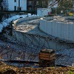 Die frühere Zufahrt zum Steigenberger Hotel während der Vorbereitungsarbeiten