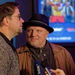 Jan Josef Liefers und Axel Prahl werden für den WDR interviewt