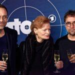 Aleksandar Jovanovic (Zoltan Rajinovic/G.O.D.), Gertie Honeck (Nika Wenger) und Jan Josef Liefers (Pathologe Prof. Dr. Karl-Friedrich Boerne)