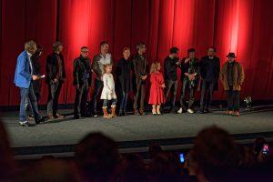 Im Kino für das Publikum angetreten