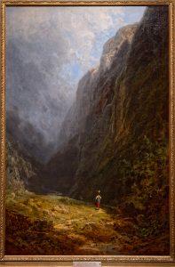 Alpental mit Sennerin von Carl Spitzweg, keine entartete Kunst