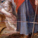 """Riss im Holz von Frans Franckens """"Die Bergpredigt oder die Gier der Masse"""""""