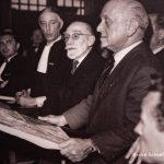 Gurlitts Pariser Geschäftspartner während der Besatzung, André Schoeller, in Paris 1950 während eines Gerichtsverfahrens als Gutachter