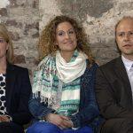 Mira Bartuschek (links), Alessija Lause und Moritz Führmann