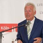 Der Vorsitzende der Landschaftsversammlung Rheinland, Prof. Dr. Jürgen Wilhelm, während seiner Rede